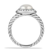 Elegant Wedding Rings for Women 925 Silver Jewelry White Pearl Ring Size 6-10
