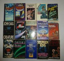 Lot of 15 Vintage Science Fiction,Robert Silverberg,Larry Noven, Stephen King S1