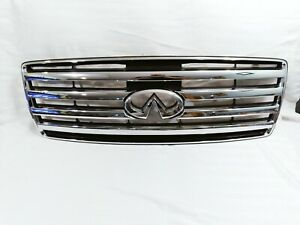 ✅ 2004 2005 2006 2007 Infiniti QX56 front Grille OEM ♥ CHROME VERY SHINY 👍