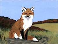 Ceramic Accent & Decor Tile Zeppa Fox Wildlife Animal Art MKZ005AT