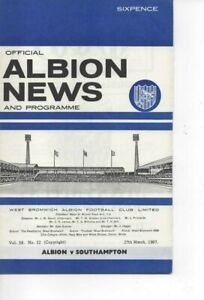 West Bromwich Albion v Southampton 1966/67 Division 1 with League Review