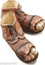 Tramp Clown Gnome Hobo Giant Big Feet Fancy Dress Costumes Shoes Boots with Toes
