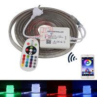 110V/220V 5050 RGB LED strip Silicone Tube with APP  LED controller