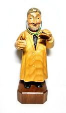 """Anri 7"""" Carved Wood Doctor General Practitioner Internist Jewish Physician #4"""