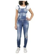 Salopette Jeans Donna MET INEZ Blu Denim Made in Italy