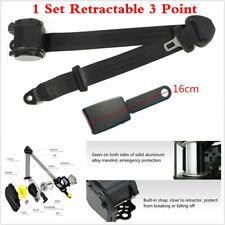 1 Set High Quality Retractable 3 Point Car Safety Seat Belt Lap & Diagonal Belt