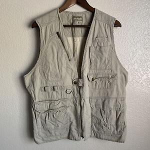 Vintage Royal Robbins Men's Khaki Safari Travel Vest Size Medium
