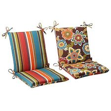 Patio Deck High Back Chair Cushions Set Indoor Outdoor Seat Covers Replacement