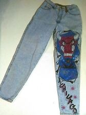 Womens Levis Size 5 27X30 Jeans Tapered Leg Denim Air Brushed Chicago Bulls #23