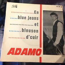 HEAR French Moody Popcorn - ADAMO - En Blue Jeans Et Blousons D'Cuir - Pathe EP