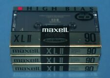 3 New Maxell XL II 90 Audio Cassette Tapes