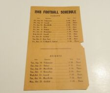 VINTAGE 1948 CROWN POINT INDIANA HIGH SCHOOL FOOTBALL VS. VALPARAISO & SCHEDULE