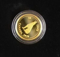 1/10 Oz  Pure Gold Maple Leaf  - 2020 - Colville  -  50 Cent Wolf