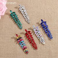 Mecresh Women Wedding Earrings Multicolor Marquise Crystal Bridal Drop Earrings