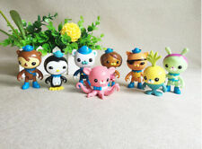 8Pcs/Lot Children Toys The Octonauts Figure Dolls Buck Captain and His Friends