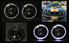 "H6012 H6015 H6024 7"" White Halo Black Projector Headlights"