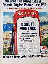 1954 Mobilgas Special Boost Engine Power Tankful Gas Pump Original Ad