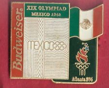 1996 Atlanta Budweiser Beer 1968 Mexico Historic Olympic Pin Bud Mexico Flag