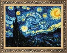 "Counted Cross Stitch Kit RIOLIS 1088 - ""Starry Night after Van Gogh`s Painting"""