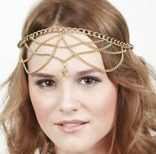 Bohemian Gold Hair Head Chain Boho Headpiece Headband Hippie Summer Festival AG