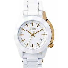 Nixon Monarch Women Watch (All White / Gold)