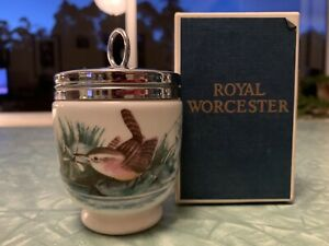 Classic Royal Worcester Egg Coddler King Size Birds pattern with Box and Recipes