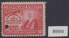 "HAITI 1929 FRONTIER TREATY Sc 321 PERF PROOF + ""SPECIMEN"" MNH VF"