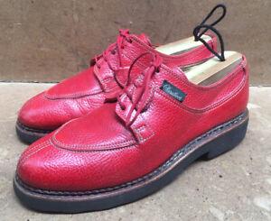 Paraboot Split Norwegian Toe Red Leather Women's Shoes Size Uk 4 K | USA 6