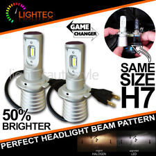 NEW! H7 SUPER SLIM LED CONVERSION CAR HEADLIGHT BULBS KIT 5700K XENON WHITE V10