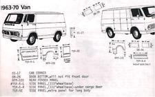 Chevrolet Chevy GMC Van Door Bottom Set L&R, 1963,1964,65,66,67,68,69,70 Schott