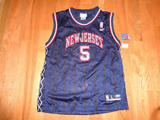 NEW JERSEY NETS KIDD # 5 REEBOK JERSEY YOUTH  SIZE L