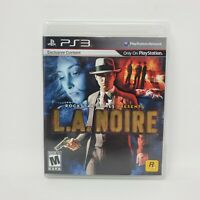 L.A. Noire (Sony PlayStation 3, 2011) Complete with Manual Tested and Works