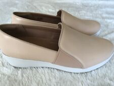 Fitflop Womens Leather Cream Loafers/moccasins  Size 7 Eur 41