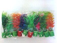 """Aquarium New Artificial / Plastic Plant  for Decoration - 4"""" Size -10 Pieces"""