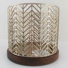 Bath & Body Works Gold Chervon candle holder Brand New