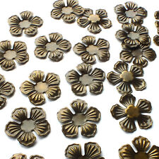 25 x 22mm Nice Flower shape Embellishments Charms Wraps Bronze Tone Metal Craft