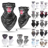 Motorcycle Balaclava Neck Gaiter Bandana Scarf Face Shield Mouth Cover Headwear
