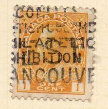 Canada pré annuler sur GV 1912-21 Early question fine utilisée 1 C. 244999