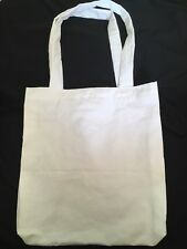 Large Handmade Calico/Canvas Cotton Tote Carry Bag. White Eco Friendly Fabric