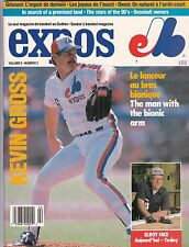 1989 Montreal Expos Baseball Scorecard and Program W/Kevin Gross Cover