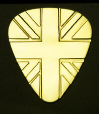 UNION JACK - Solid Brass Guitar Pick, Acoustic, Electric, Bass