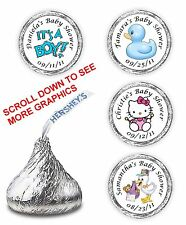 108 BABY SHOWER KISSES FAVORS HERSHEY PARTY SUPPLIES STICKERS CANDY WRAPPERS