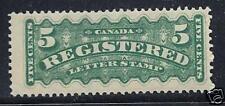 Canada 1875-88 Registration F2 F/Vf Mh