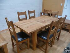 VANCOUVER SOLID OAK TABLE 140-180CM & 6 CHAIRS NB005 & NB003/4 EX-DISPLAY ,