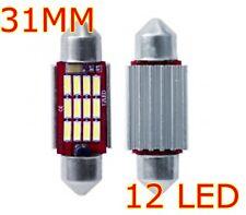 2 LED SILURO 31mm 12 SMD 3014 CANBUS NO ERRORE LAMPADE LUCI INTERNO TARGA