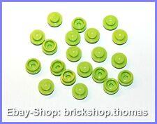 Lego 20 x Platte rund Grün (1 x 1) - 4073 - Plate, Round Lime - NEU / NEW