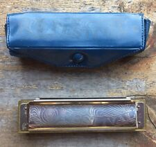 Vintage Festival Harmonica C Made in Korea with Blue Vinyl Case