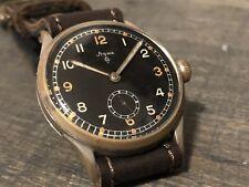 Vintage 1940s Stowa German Watch, Military / WW2 / RLM Style Oversized 36mm Case
