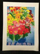 Flowers by Walasse Ting impresión