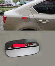 Fuel Oil Tank Gas Cap Cover Trim Decoration For 2013+ Skoda Octavia Sedan Red